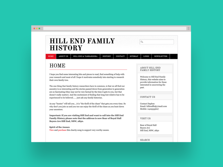 Hill End Family History