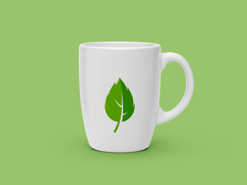 Mint Leaf Mockup Mug