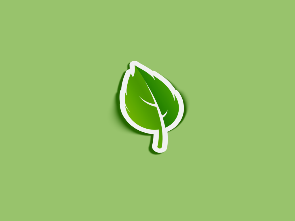 Mint Leaf Mockup Sticker