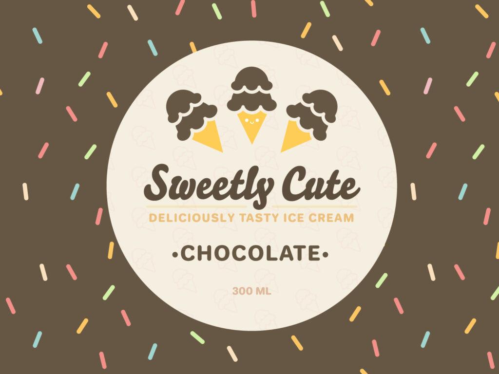 Sweetly Cute Ice Cream (Chocolate)