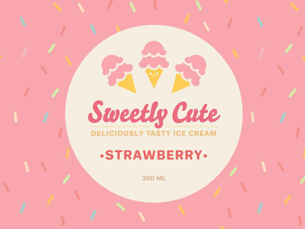 Sweetly Cute Ice Cream (Strawberry)