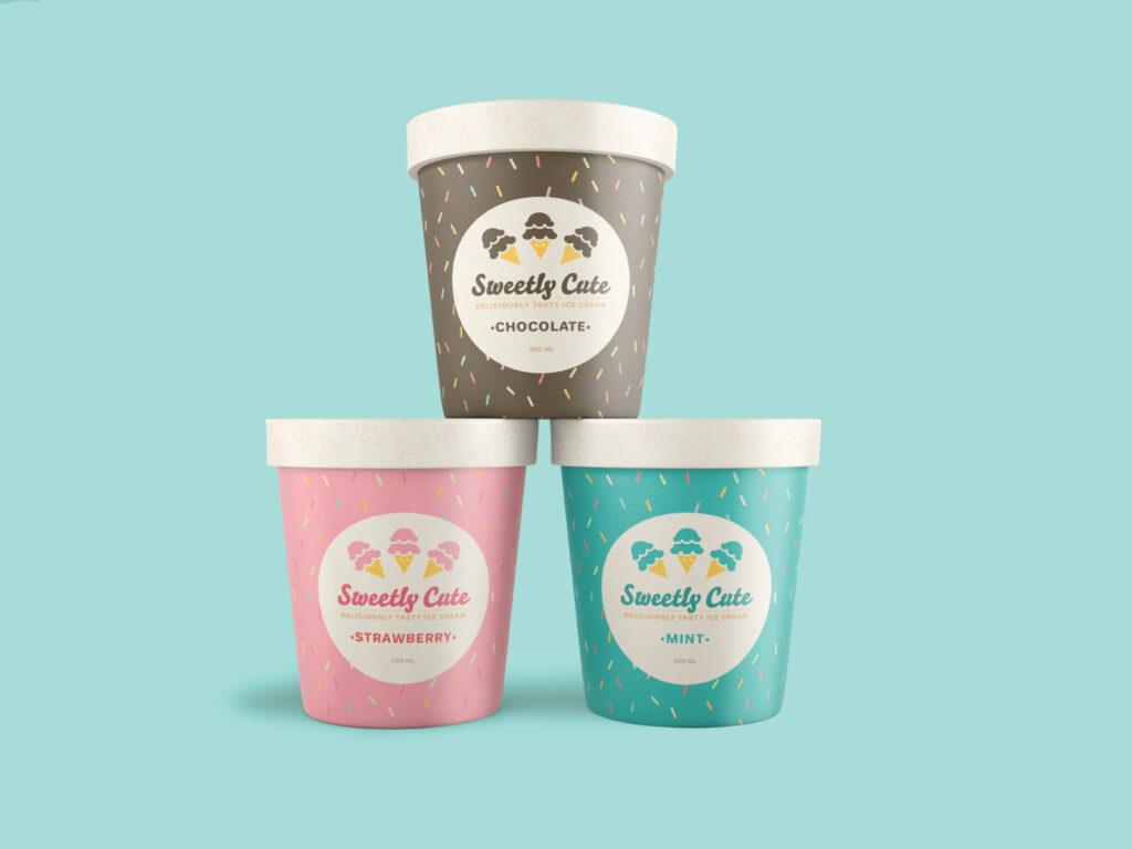 Sweetly Cute Ice Cream Mockup