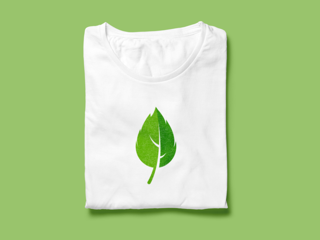 Mint Leaf Mockup T-Shirt